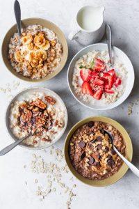 gezond ontbijt met volle granen en tarwekiemen